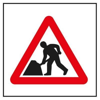 Roadworks-sign